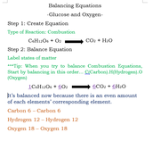 Example: Balancing Glucose and Oxygen