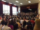 A full house of families and friends enjoying the winter concert.