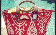 Red Ikat Getaway Bag