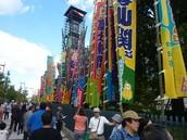 outside the Kokugikan Stadium