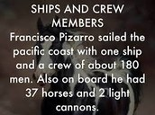 Pizzaro's crew