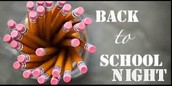 Back-To-School Night: September 22