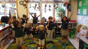 "Brielle and her class dancing to ""Tomorrow!"""