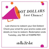 Redeem your Dot Dollars now