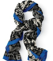 Super-Soft Union Square Scarf (Midnight Bloom)