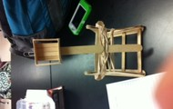 Our finished catapult