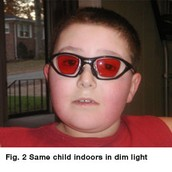 Red colored lenses