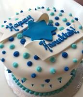 Hannukkah Banner Cake!