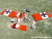 What happens if a model airplane crashes?