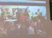 A Mystery Skype close-up view of the 4th grade students