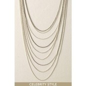 Cascading Chains Necklace