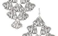 Geneve Lace Chandelier Earrings- Silver