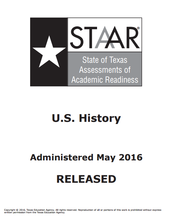 Released 2016 STAAR and EOC tests