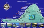 Map of Oahu beaches.