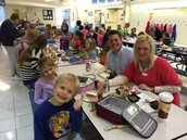 Great turn out during our first grade lunch this week!