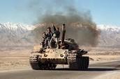 Taliban people in war