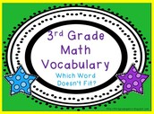 Math Words We Should Know