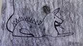 Schets prehistorisch dier