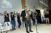 Chairman Mike playing his sax...
