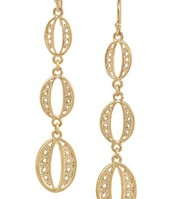 *SOLD* Kimberly Drop Earrings, Gold $15