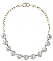 sommervell necklace, clear and brass - $30