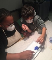 Creating paint out of egg yolk...SD Museum of Art- Art Core
