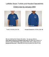 Spirit Wear Ordering Infomation