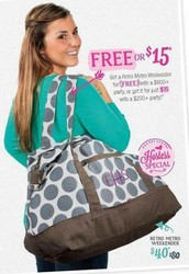 Gather your friends, I'll bring the bags.... & YOU get the $80 Retro Metro Weekender for FREE!