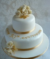 An anniversary cake.