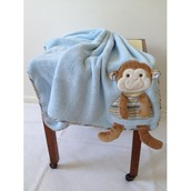 Personalsied Monkey Baby Blanket