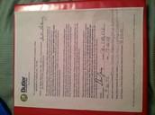 Signed Butler Observation Paper