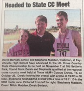 Stephanie Goes to State in Cross Country!