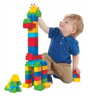 Children learn a lot from sorting and stacking blocks!