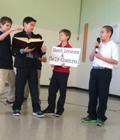 The 5th Grade blessed us at Chapel today!