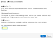 Step 2 – Select the Assessment Type