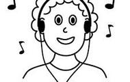 A Gabriel le gusta escuchar música.