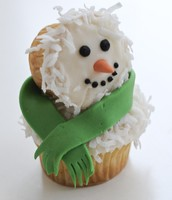 Sweet Snowman Cupcake!