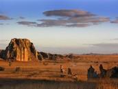 Un désert aride à Madagascar