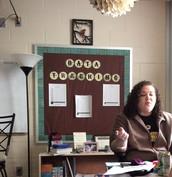 Ms Hartman is teaching us