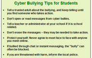 Tips on Cyber Bullying