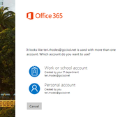 Step 7: Select Office 365 Account Type