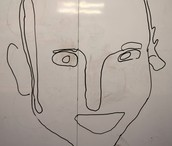 Nasir's Portrait on White Board