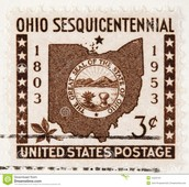 Postage stamp for ohio
