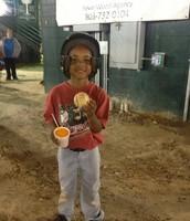 Jayden earns game ball too!