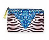 Capri Pouch- Jeweled Zebra