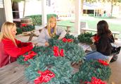 Fluffing Wreaths