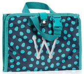 Timeless Beauty Bag in Navy Lotsa Dots