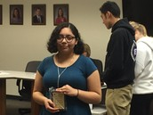 Mireya Arango (Stanford) receives Student of the Month award