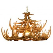 Rustic Whitetail 12 Antler Cascade Chandelier