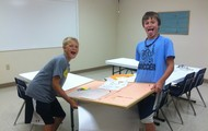 Helping clean and paint our Sunday School classrooms